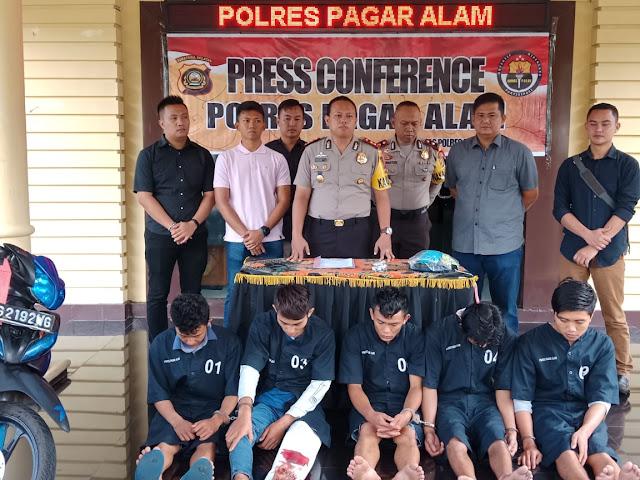 Gilir Anak Dibawah Umur, lima Pemuda Diciduk Polisi