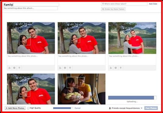 how to create an album at facebook