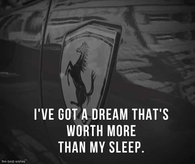 Inspirational Quote about Dream and Sleep.