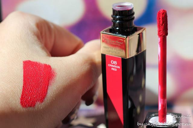 Pierre Rene Matte Fluid Lipstick 08 Crimson Red, отзывы
