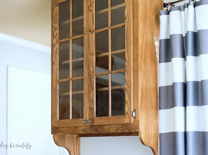 Plans to Update a Dark Oak Cabinet