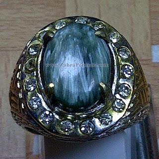 Cincin Batu Bulu Macan Ijo - ZP 1015