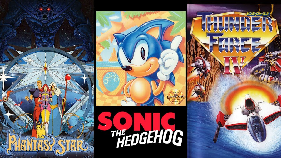 phantasy star sonic the hedgehog thunder force 4 sega