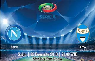 Prediksi Napoli vs SPAL 22 Desember 2018