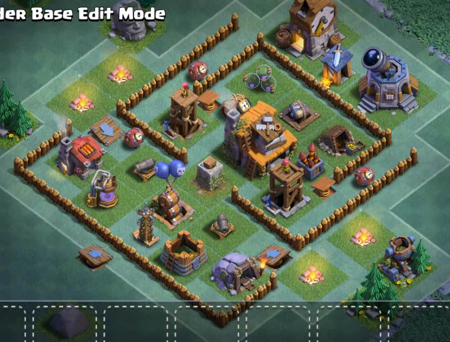 Base Coc Malam Th 4 Anti Bintang 7