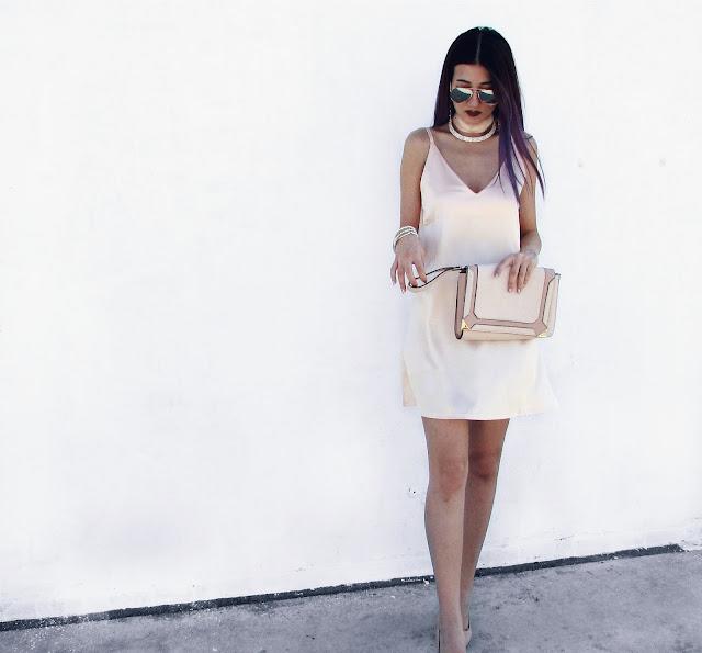 satin strap dress