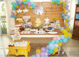 Dicas Decoração Festa Infantil  Unicórnio