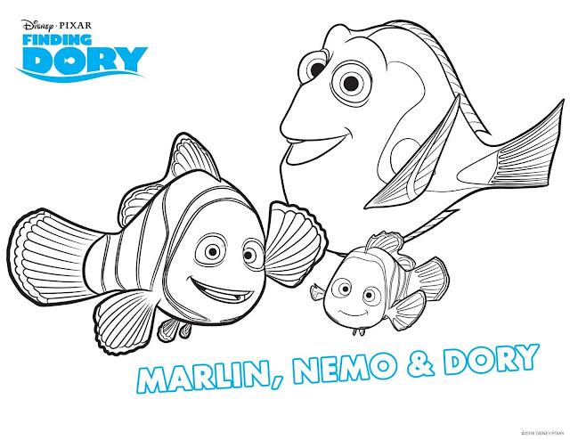 Finding Dory kleurplaat, Dory kleurplaat, Nemo kleurplaat, Hank kleurplaat, Bailey kleurplaat, kleuren finding Dory, film vis dory, vis dory, vis nemo