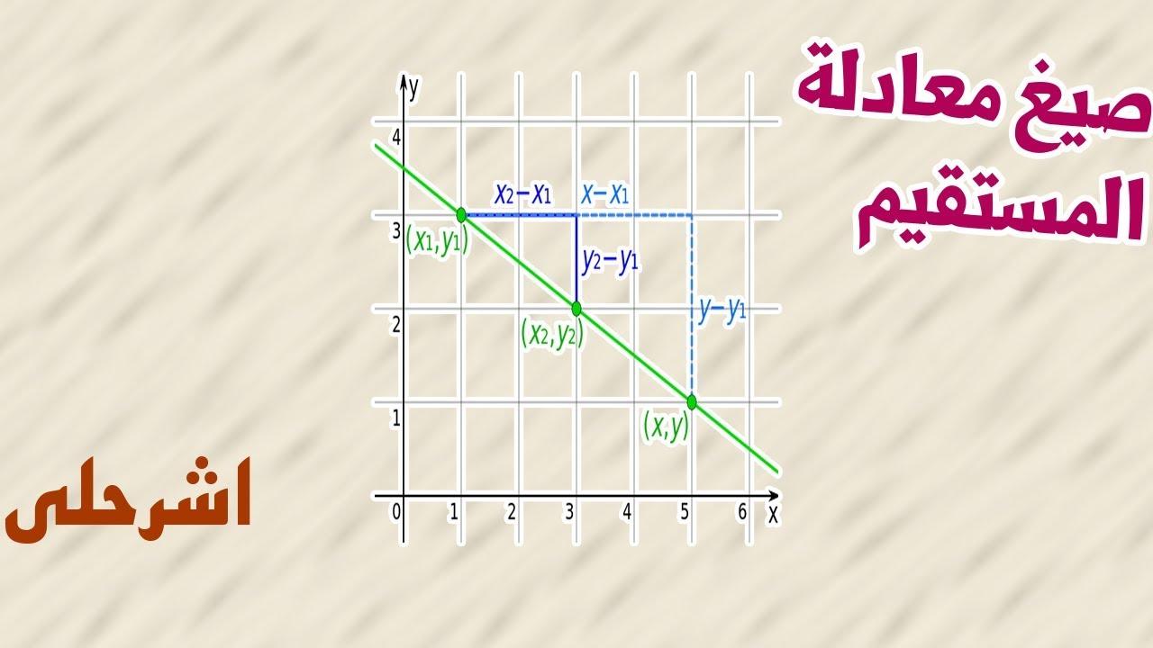 صيغ معادلة المستقيم اول ثانوي
