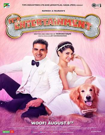 Poster Of Entertainment 2014 Hindi 600MB BRRip 720p ESubs HEVC Watch Online Free Download downloadhub.in