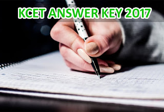 Karnataka CET 2017 Key All Subjects, KCET Answer Key 2017