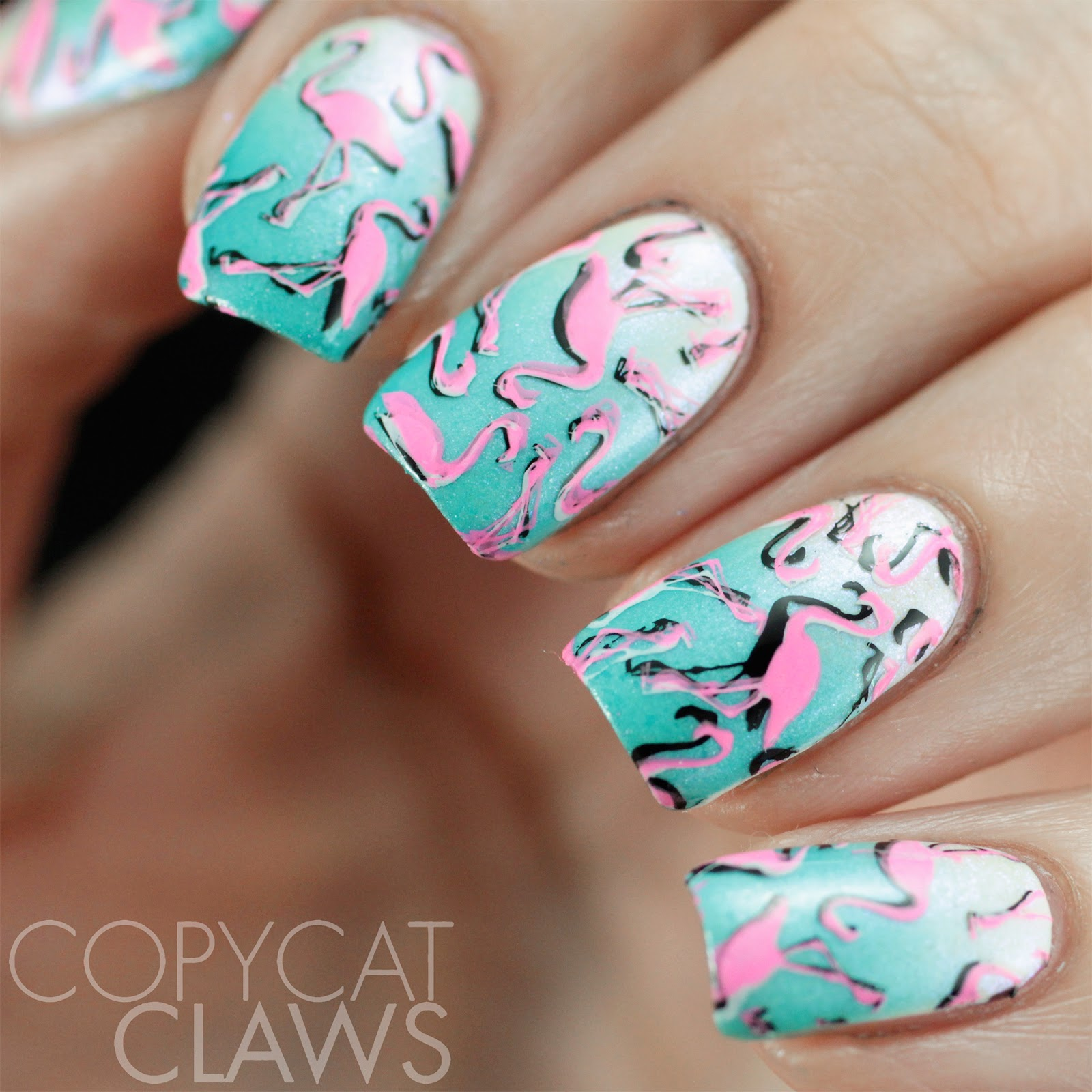 Copycat claws lina nail art supplies summer 02 and make your mark 05 i did my second mani while i was swatching the illyrian polish spellbind collection that i shared yesterday plus its shark week next week so if you need a prinsesfo Gallery