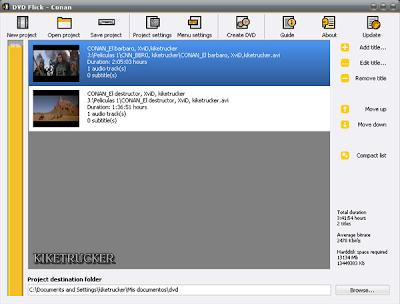 Graba varios videos en un DVD con menús