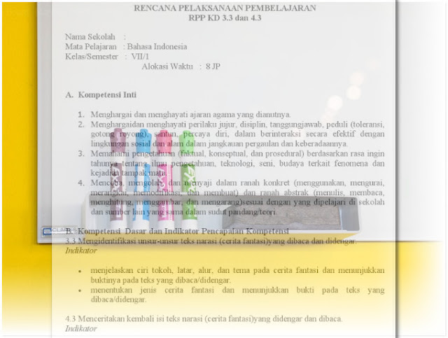 RPP K13 SMP Bahasa Indonesia