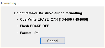 formatting process of your memory card