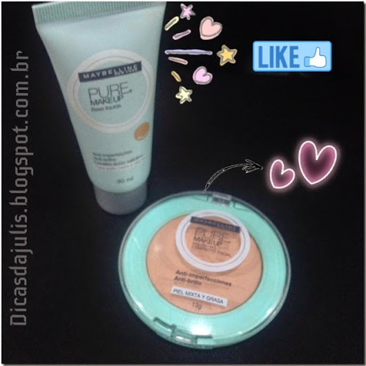 Resenha - Pó e base Pure Makeup - Maybelline