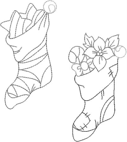 risco para pintura em tecido natal meias