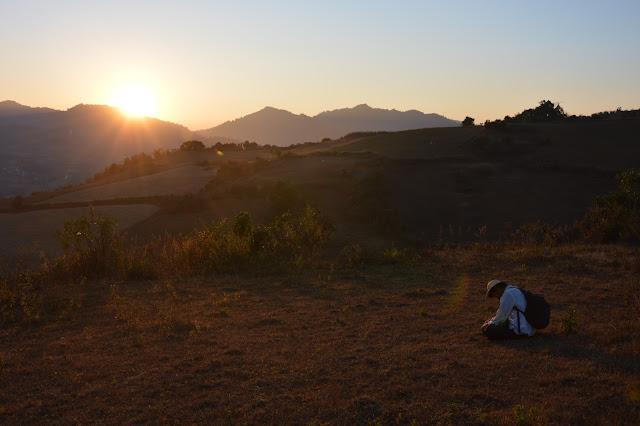 Coucher de soleil en compagnie de notre guide