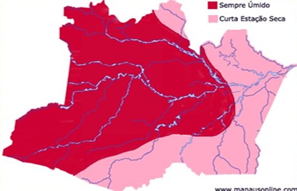 Mapa Amazonas - clima