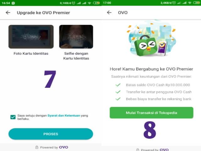 Proses Upgrade OVO Premier