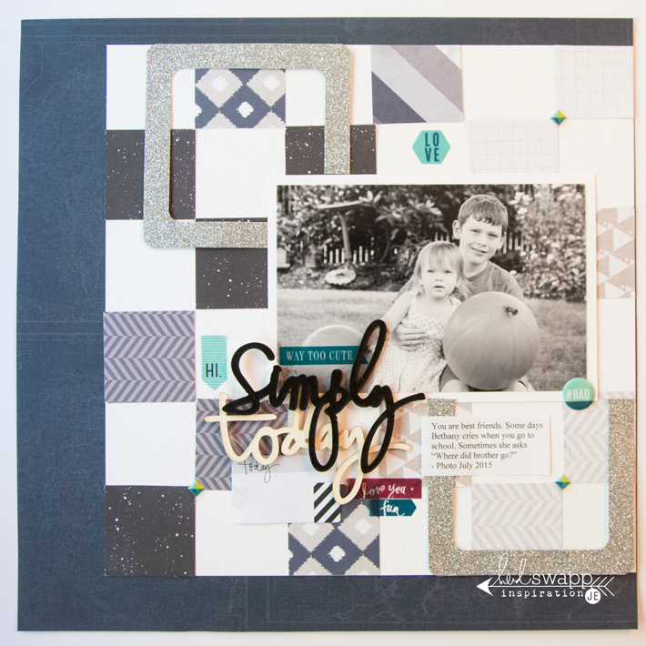 Heidi Swapp Project Life made into a traditional scrapbook page by @createoften