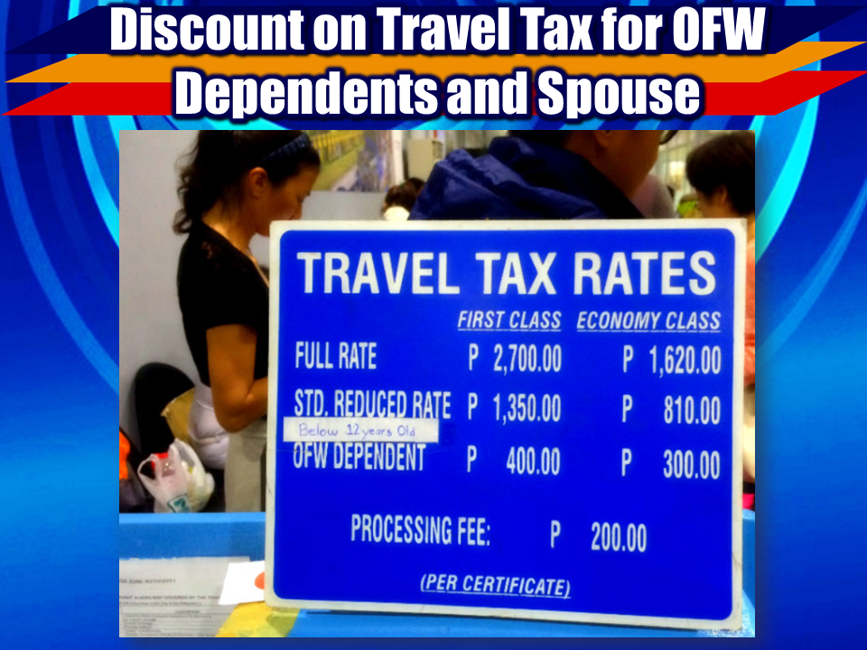 "Overseas Filipino Workers (OFWS), often referred to as ""the modern day heroes"" because of their great contribution to our economy  through their remittances. OFWs send money to their families back home which keep our dollar reserve stable. Filipino families spend it for their needs which the government collect taxes in every purchases, and thus, keeping the economy alive. But being an OFW is never easy. We can hear stories of OFW being maltreated, not adequately compensated, some of them find harsh employers and being subjected to inhumane treatment. All this sacrifice for the sake of their family back home. For a dream to give them better lives and a future.  To repay their contribution to our nation, the government and even private companies has given them exclusive perks and privileges for them to have their not-so-long vacation in the country more enjoyable and comfortable.  We gathered 15 of them (not in order of priority) for the OFWs who are not even aware that they can have these privileges.  Courtesy lanes for OFWs at the DFA provides convenience to OFWs who wish to renew their passports. With very limited time allotted for their vacation,  the OFWs does not want their family time to be wasted. Their time saved from being consumed by long queues can be added to the quality time they spend with heir family.  The NAIA well-wishers lounge is the new gift of the Manila International Airport Authority to he OFWs. It provides a comfortable place for OFW family and friends to enjoy their last moments before their loved ones flight.  The VIPinoy is an Ayala Malls gift to the OFWs to enjoy perks and privileges when they visit any Ayala malls. However, they stopped this service since October 1, 2017 but they said  that active members of the program may continue to avail the perks of being VIPinoy member.    Travel tax can be costly but if you are an OFW, you are exempted to pay and you can get almost 50% of it for your legal dependents.  The BPI Pamana Padala is a remittance service which also serve as an insurance plan for OFWs.    SM Malls has provided a section where OFWs can feel VIP treatment and perks.    Sponsored Links  Duty free shopping is one of the privilege every OFWs and migrants enjoy. They can buy imported products in the convenience of the duty-free shop without paying high taxes.    Pag-IBIG Fund gives OFWs an opportunity to save and invest at the same time through the voluntary saving program which can actually help the OFWs save and keep their hard-earned money. To know more on how to save and earn at the same time with Pag-IBIG, click here.  Language is vital for communications specially when you are planning to work or already working overseas. TESDA provides language  courses for OFWs for free.   OFWs pay $25 for OWWA membership before they can work abroad. The sad trut is that, not all OFWs are aware of the benefits they can enjoy out of this membership fee. One important benefit that OFWs can use from being an OWWA member is the livelihood program designed for OFWs.  For more information about this program, you may click here.  The OFW One-Shop Service Centers is one of the promises made by President Duterte to the OFWs to lessen the burden of going to different places whenever an OFW applies for job overseas. With  this, all the needed government transactions can be found in one place. The One Stop Service centers can even be found inside the convenience of  selected malls all over the country. For the list of malls with OFW One-Stop service centers, click here.  For OFWs who want to buy a car for their family, whether it is for business or personal use, Ford Philippines made this exclusive deal for the OFWs providing them online assistance to purchase their car even while they are working abroad.  For more information about this privilege, click here.   The immigration booths at the NAIA designated for OFWs are very useful for the OFWs going out and coming in to the country's gateway. It provides convenience and ease for the OFWs to avoid long queues at the airport.   The Social Security System or SSS has a program called Direct Housing Loan Facility for Overseas Filipino Workers (OFW) it is designed to support the Government's shelter program,and to provide socialized and low-cost housing to overseas Filipino contract workers. For complete information how to avail the program, click here. Kabayan Savings Account is an easy way of opening an account and send remittances back home without requiring a maintaining balance. For more information, click here.  Advertisement Read more:       ©2017 THOUGHTSKOTO"