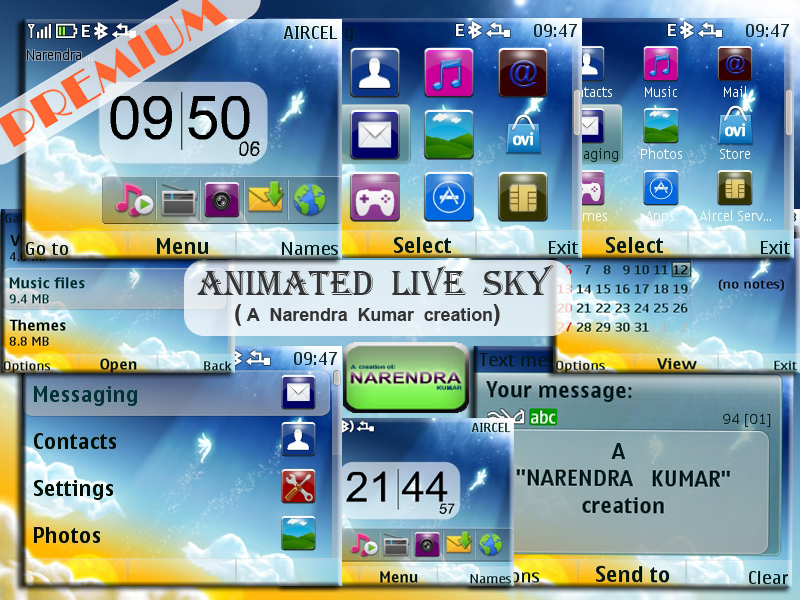 Narendra's Themes: ANIMATED LIVE SKY
