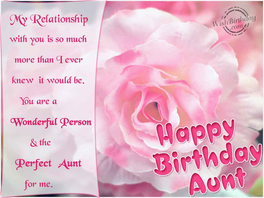 15 Images of Happy Birthday Wishes for Aunt Romantic Love – Latest Birthday Greeting Cards