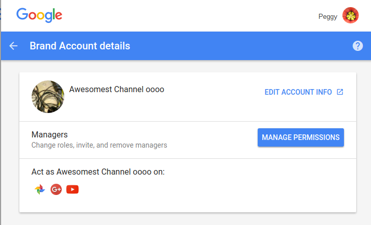 how to delete google brand account