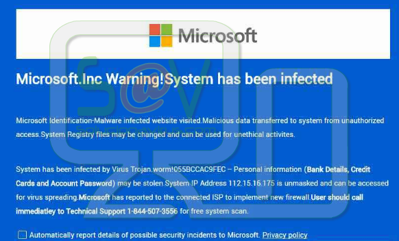 """Warning: Internet Security Breached"" pop-ups (Falso soporte)"