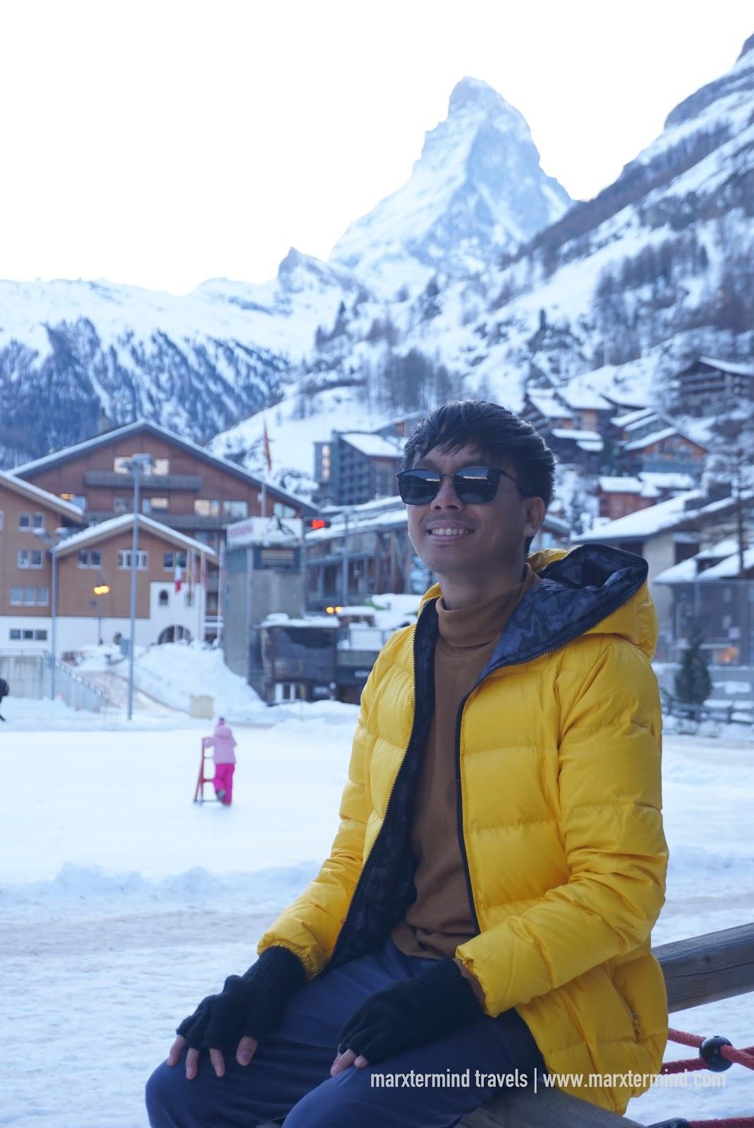 Town of Zermatt in Switzerland