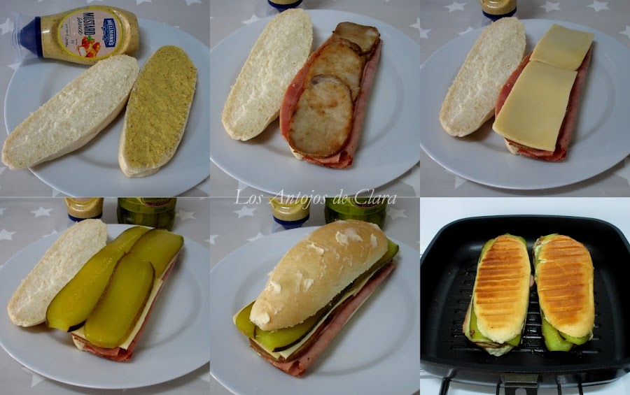 Receta sándwich cubano