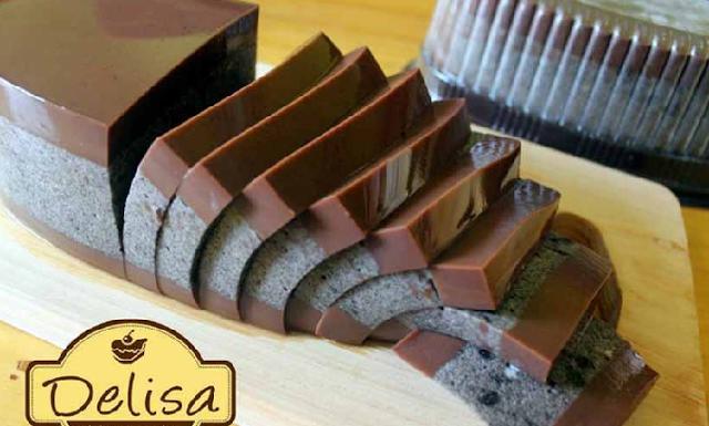 Resep dan Cara Membuat Puding Lapis Coklat Oreo Delisa Memang Lazizzzz pake Banget Bun !!