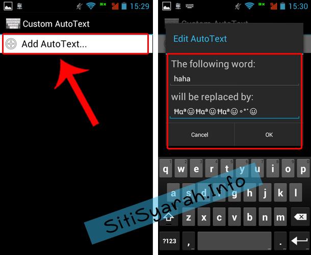Autotext Terbaru Android