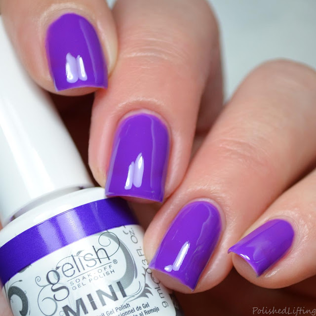 neon purple gel polish