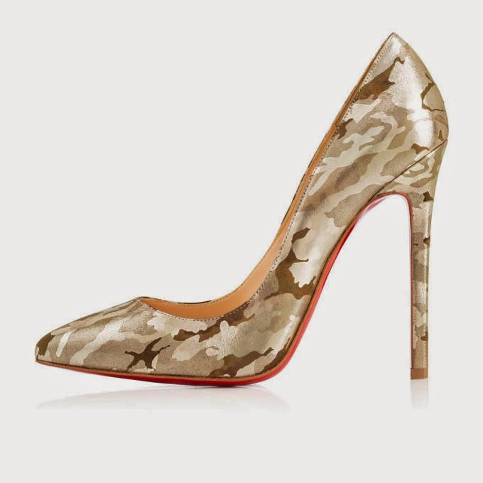 Christian Louboutin Pigalle 120Mm Gold Leather Camouflage Women Sky-High  Pumps 1fc7fa524