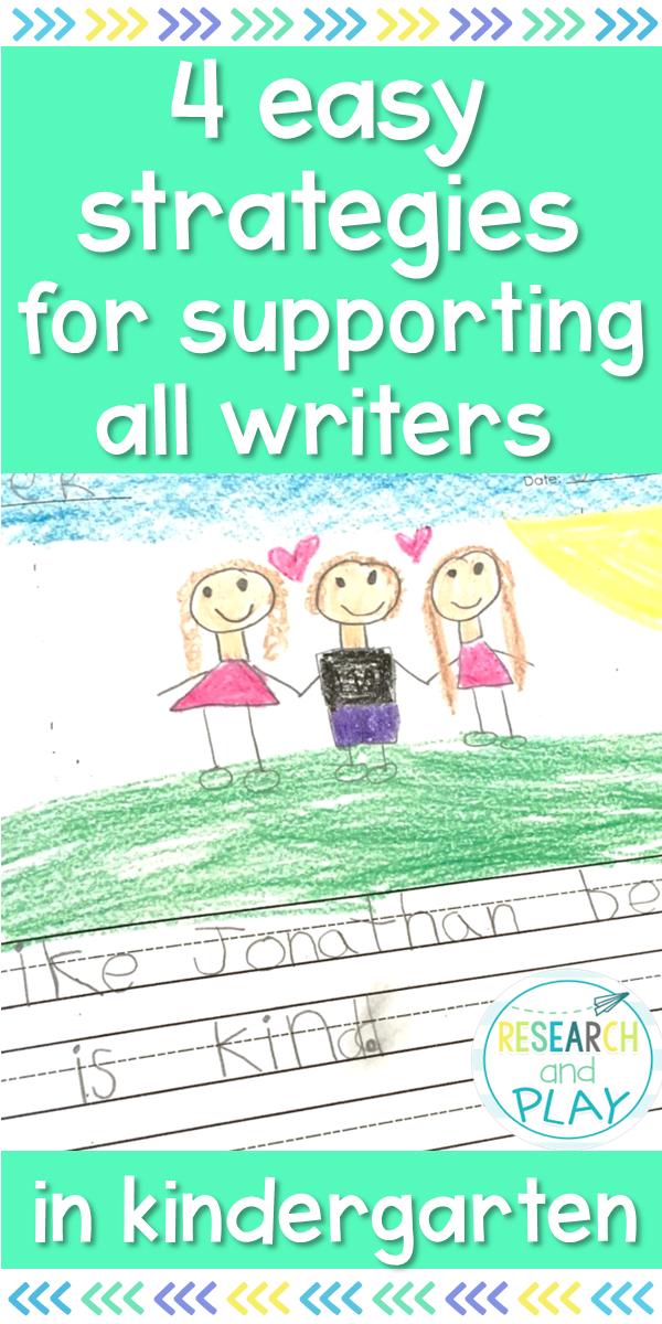 4 Easy Strategies for Teaching Writing in Kindergarten