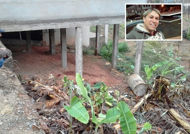 Corpo de radialista morto a pedradas é encontrado em terreno em Cana Verde, MG - Foto/reprodução EPTV