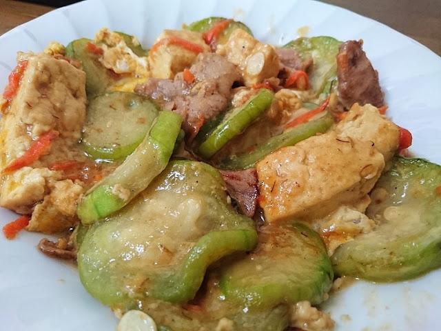 ヘチマの味噌煮の写真