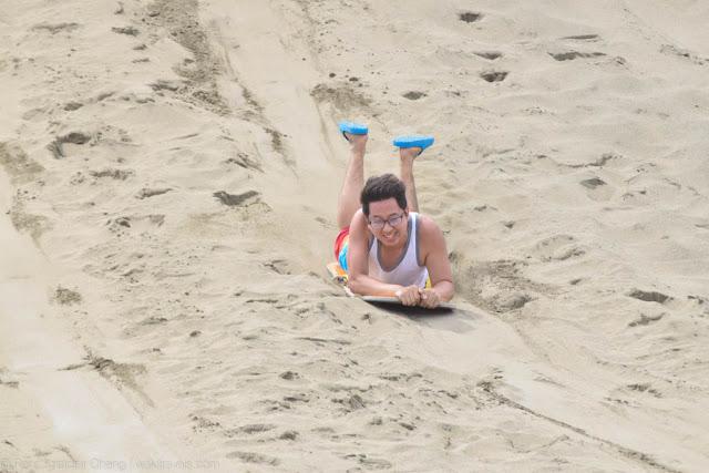 Superman slide in La Paz Sand Dunes