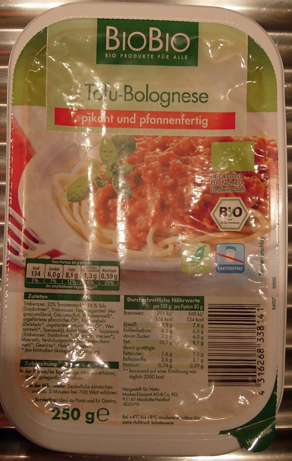 Tuffi  Is Dann Mal Veg : Produkt-Test: Fertige Tofu-Bolognese