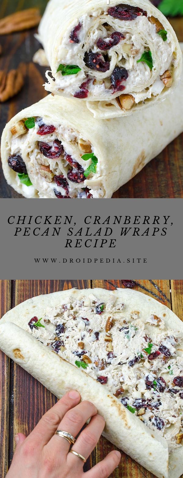 Chicken, Cranberry, Pecan Salad Wraps Recipe #jealthy #lunch #saladwrap