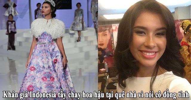 Khán giả Indonesia tẩy chay hoa hậu tại quê nhà vì nói cô đồng tính