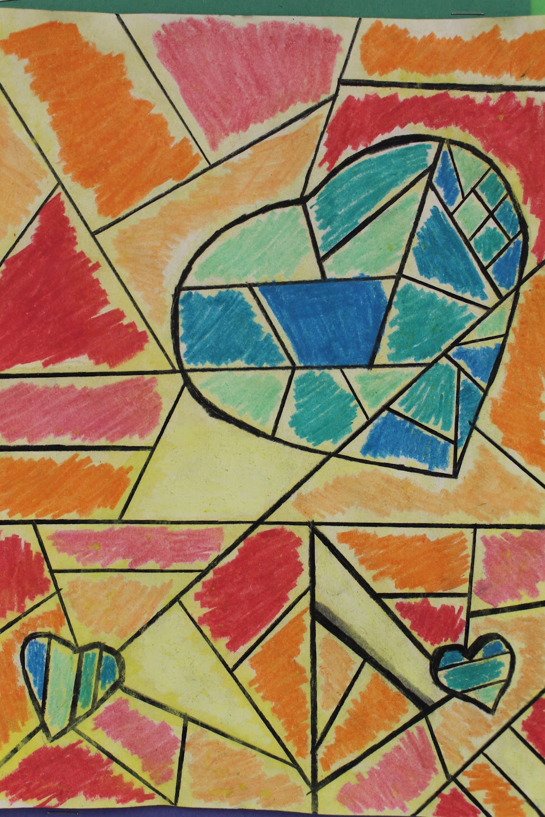 The Elemental Art Room Cubist Hearts Paul Klee