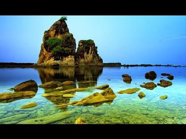 Transportasi ke pantai suwarna Banten