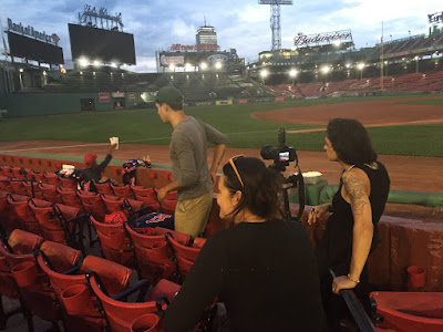On-location photoshoot at Fenway Park