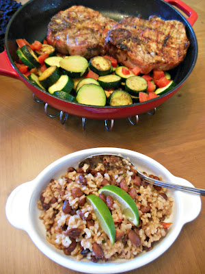 Rice and Beans, cooked together in one pan for easy clean up