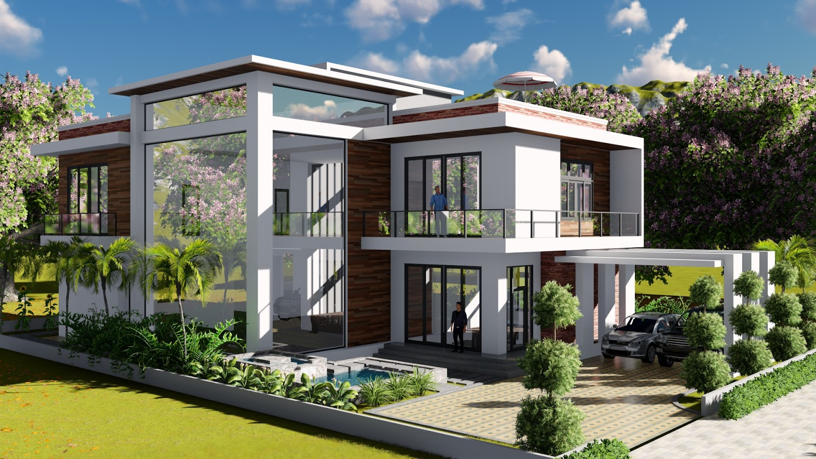 Sketchup Modeling Lumion Render 2 Stories Villa Design