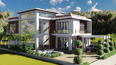 4 Bedroom Home Plan 13.8x19m