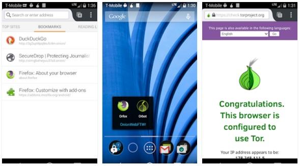 أفضل متصفح لتصفح الانترنت بسرية وآمان علي الاندرويد تور Orfox: Tor Browser for Android